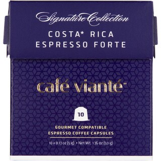 Cafe Viante Costa Rica Espresso Forte 70-pack Coffee Capsules for Nespresso Compatible Machines