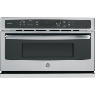 GE Stainless Steel Electric Speed Oven with 1.7 Cubic Feet Capacity - Silver