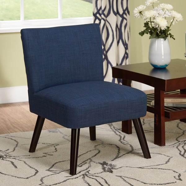 Shop Simple Living Delilah Navy Accent Chair Free
