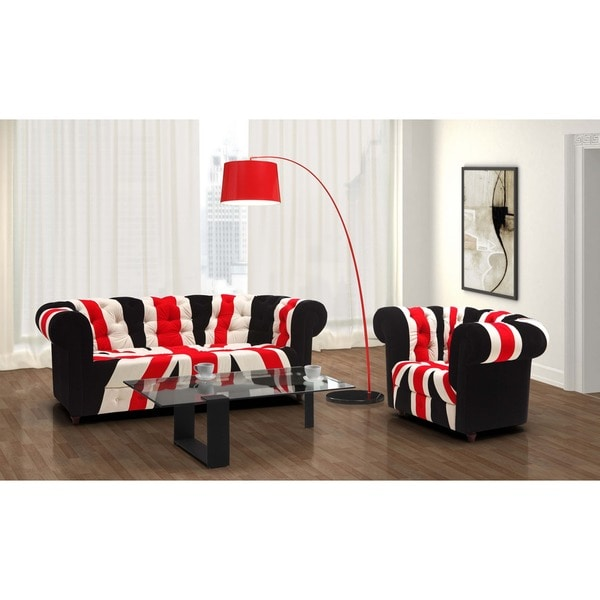 Shop Red, White and Black Union Jack Sofa - Free Shipping Today ...