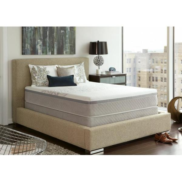 shop sealy posturepedic hybrid trust cushion firm full size mattress set free shipping today. Black Bedroom Furniture Sets. Home Design Ideas
