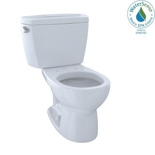 Toto Eco Drake Two-Piece Round 1.28 GPF Toilet, Cotton White (CST743E#01)