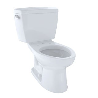 Toto Drake Two-Piece Elongated 1.6 GPF Toilet with CeFiONtect, Cotton White (CST744SG#01)