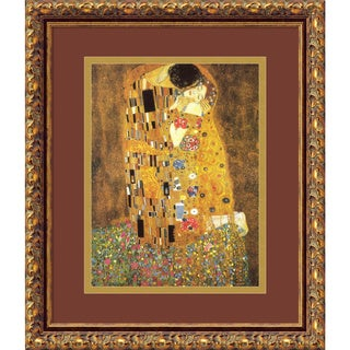 Framed Art Print 'The Kiss (Le Baiser / Il Baccio), 1907' by Gustav Klimt 17 x 20-inch