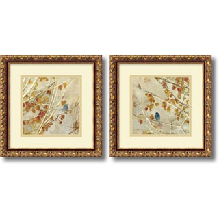 Framed Art Print 'Singing - set of 2' by Asia Jensen 14 x 14-inch Each