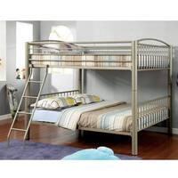 Furniture of America Olivane Champagne Gold Full Bunk Bed
