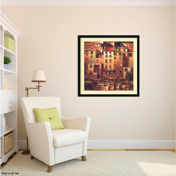 Michael Ou0027Toole U0027Mediterranean Goldu0027 Framed Art Print 34 X 34 Inch   Free  Shipping Today   Overstock.com   16357596