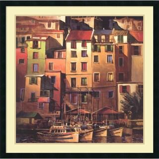 Michael O'Toole 'Mediterranean Gold' Framed Art Print 34 x 34-inch
