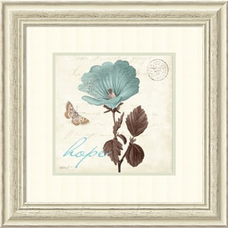 Framed Art Print 'Touch of Blue III Hope' by Katie Pertiet 23 x 23-inch