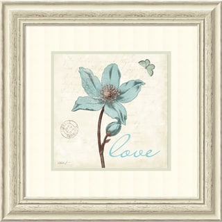 Katie Pertiet 'Touch of Blue IV Love' Framed Art Print 22 x 22-inch