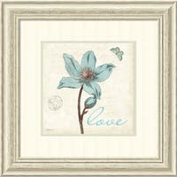 Framed Art Print 'Touch of Blue IV Love' by Katie Pertiet 23 x 23-inch