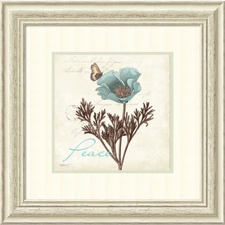 Katie Pertiet 'Touch of Blue I Peace' Framed Art Print 22 x 22-inch