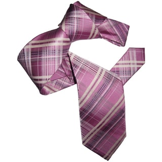 Dmitry Men's Elegant Pink Patterned Italian Silk Tie