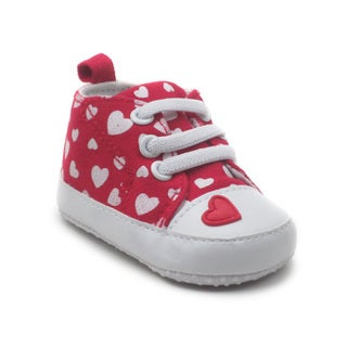 Blue Boys' 'P-Tallie' Heart Shoes in Pink