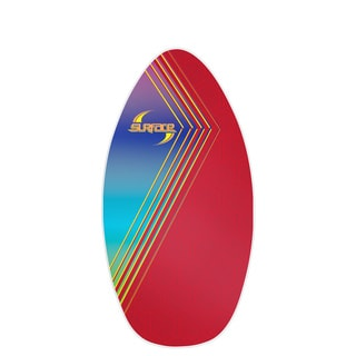 Surface 40-inch Wood Laminate Red/ Blue Skimboard