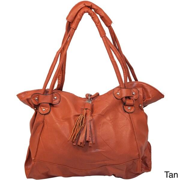 2d555e968fee Shop Furmani Vegan Leather Tote Handbag - Free Shipping On Orders ...