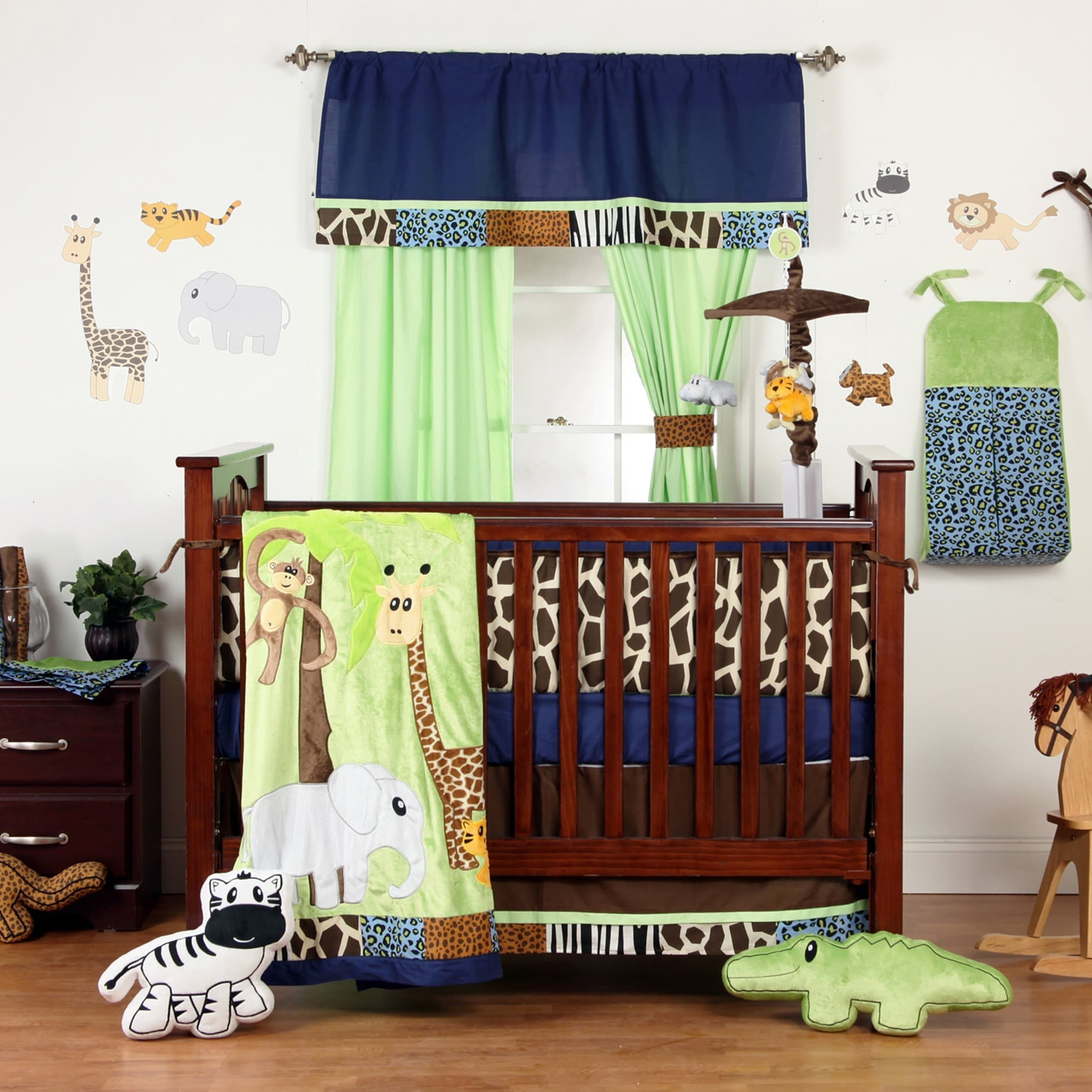 One Grace Place Jazzie Jungle 4-piece Crib Bedding Set (J...