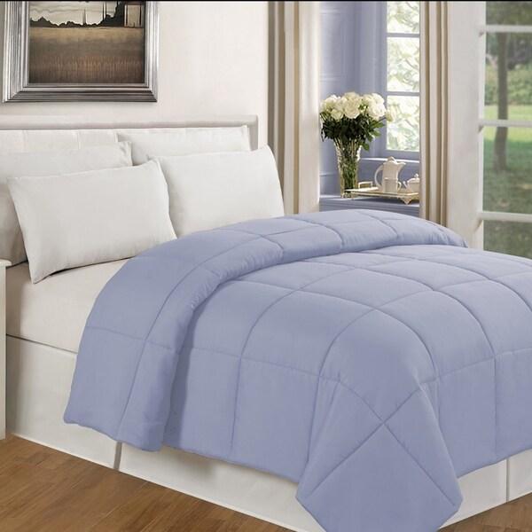 Solid Color Microfiber Down Alternative Comforter