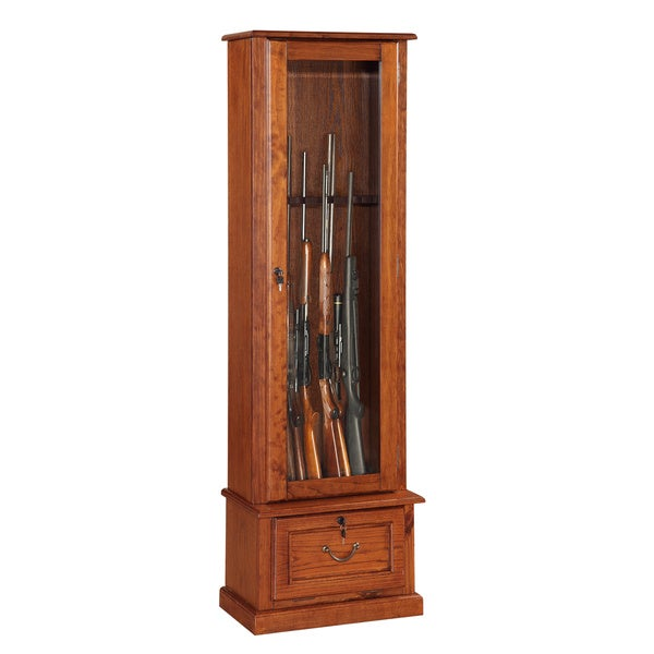 Shop Wood And Glass Door Locking Eight Gun Display Cabinet Free