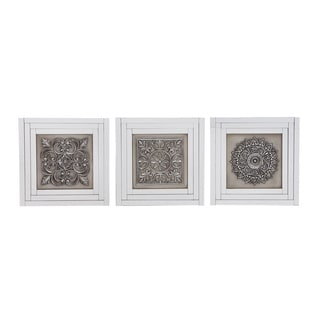 Morrocan Style Handcrafted Designer Mirrored Wall Decor Panel (Set of 3)