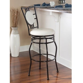 Linon Townsend Black Adjustable Stool