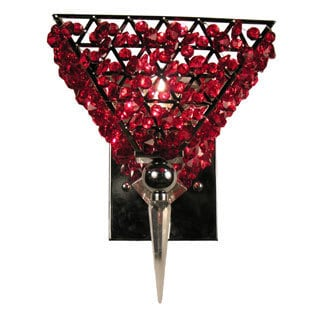Hades Triangular Red Crystal Wall Lamp