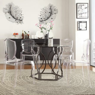 Link to Concord Black Nickel Plated Round Glass Dining Table by iNSPIRE Q Bold - Dining Table Similar Items in Dining Room & Bar Furniture