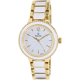 Bulova Women's Sport 98L173 Two-Tone Stainless Steel Quartz Watch with White Dial