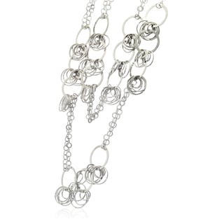 Gioelli Sterling Silver Designer Circle Link Necklace
