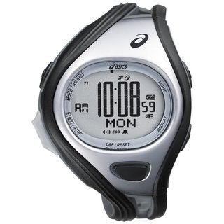 Asics Men's Challenge CQAR0401 Grey Polyurethane Quartz Watch with Digital Dial