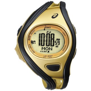 Asics Men's Challenge CQAR0309 Goldtone Polyurethane Quartz Watch with Digital Dial