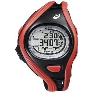 Asics Men's Challenge CQAR0304 Red Polyurethane Quartz Watch with Digital Dial|https://ak1.ostkcdn.com/images/products/9183390/P16357828.jpg?impolicy=medium