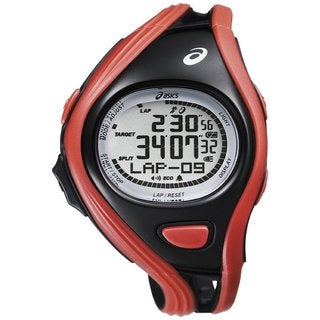 Asics Men's Challenge CQAR0304 Red Polyurethane Quartz Watch with Digital Dial