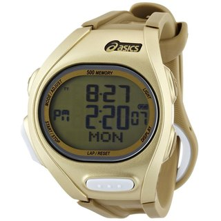 Asics Men's Race CQAR0208 Goldtone Polyurethane Quartz Watch with Digital Dial