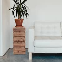 Stepped Natural Wood Pedestal