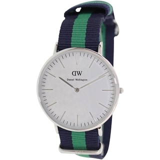 Daniel Wellington Men's Warwick 0205DW Two-Tone Nylon Quartz Watch with White Dial