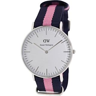 Daniel Wellington Women's Winchester 0604DW Two-Tone Nylon Quartz Watch with White Dial