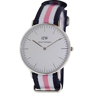 Daniel Wellington Women's Southampton 0605DW Multicolor Nylon Quartz Watch with White Dial