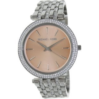 Michael Kors Women's Darci MK3218 Silvertone Stainless Steel Quartz Watch with Brown Dial