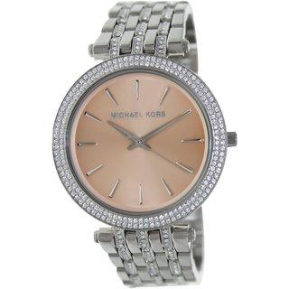 Michael Kors Women's Darci MK3218 Silvertone Stainless Steel Quartz Watch with Brown Dial