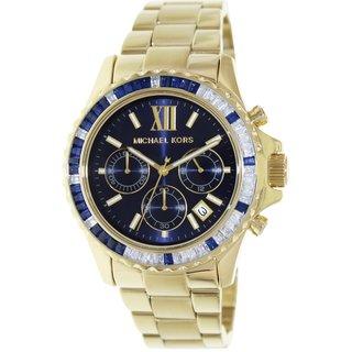 Michael Kors Women's Everest MK5754 Goldtone Stainless Steel Quartz Watch with Blue Dial