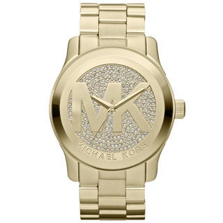 Michael Kors Women's Goldtone Stainless Steel Quartz Watch with Goldtone Dial - GOLD