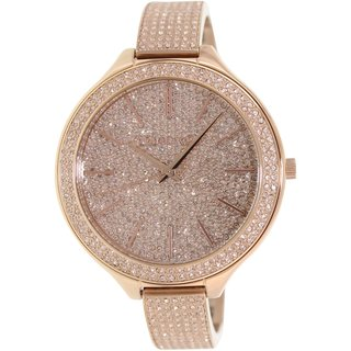 Michael Kors Women's Runway MK3251 Rose-Goldtone Stainless Steel Analog Quartz Watch with Rose-Goldtone Dial