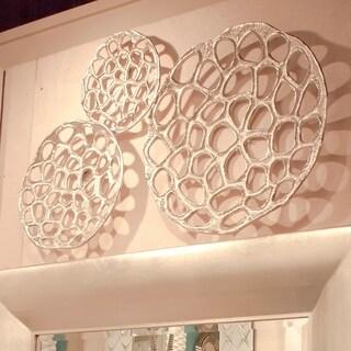 Nickel Plated Open Honeycomb Wall Art