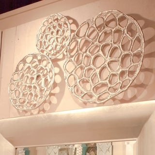 Nickel Plated Open Honeycomb Wall Art