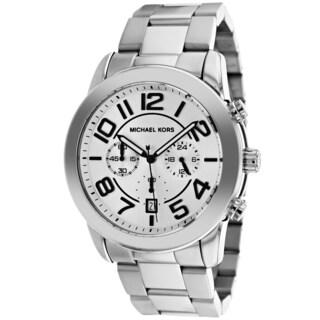 Michael Kors Men's MK8290 Silvertone Stainless Steel Analog Quartz Watch with Silvertone Dial