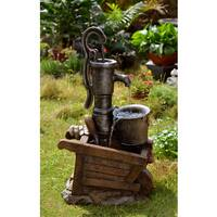 Water Pump and Pot Water Fountain with LED Light