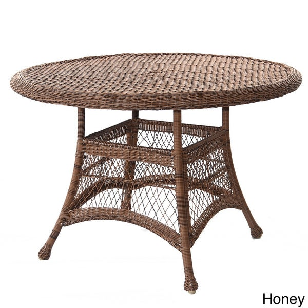 rattan dining table and 4 chairs garden round resin wicker outdoor with glass top