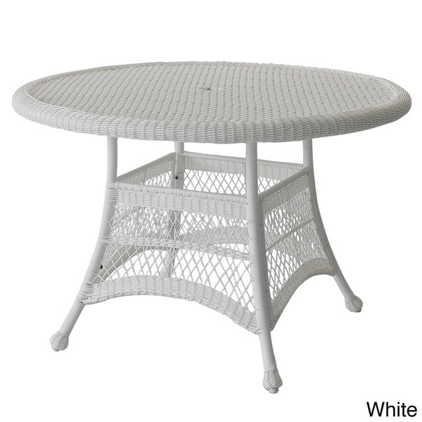 Etonnant Round Resin Wicker Dining Table