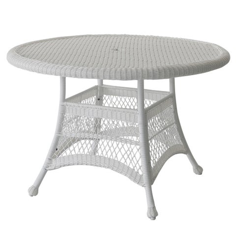 Round Resin Wicker Dining Table